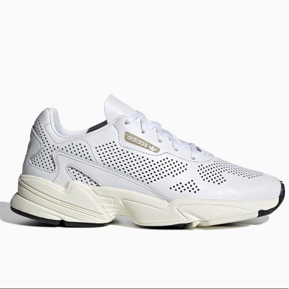 adidas Originals Leather 'falcon Alluxe' Sneakers in White